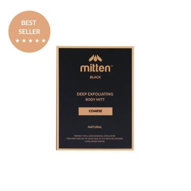 Mitten Black Coarse Fake Tan Exfoliator